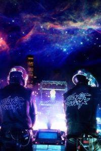 Concert de Daft Punk avec les étoiles