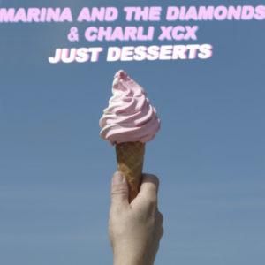 "Pochette du single ""Just Desserts"" par Marina and the Diamonds et Charli XCX"
