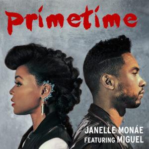 Pochette du single Primetime de Janelle Monae avec Miguel