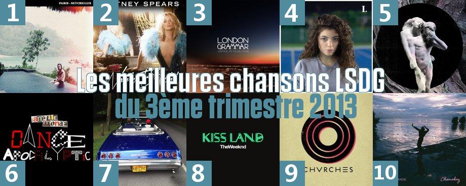Résultats du sondage de l'élection de la meilleure chanson LSDG du 3ème trimestre 2013