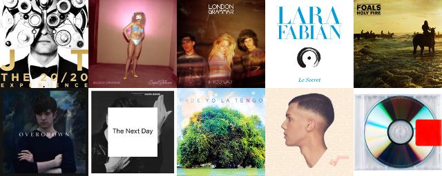 Classement de fin d'année 2013 des meilleurs albums