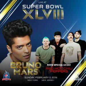 Bruno Mars et les Red Hot Chili Peppers en live pour le Super Bowl 2014