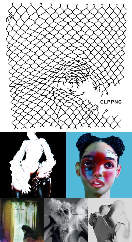 Pochette de l'année 2014 avec Clipping, FKA Twigs, Arca