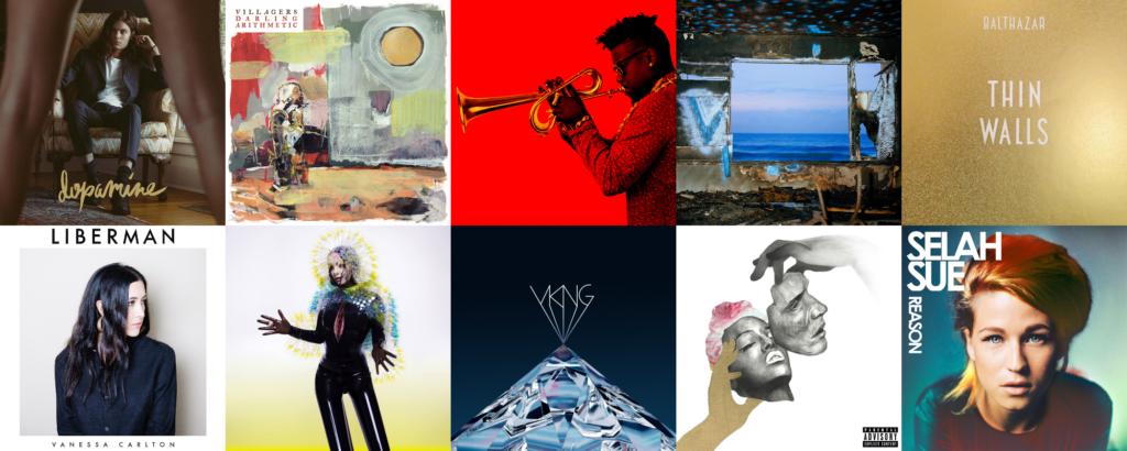 Les meilleurs albums de 2015, de la 31ème à la 40ème place